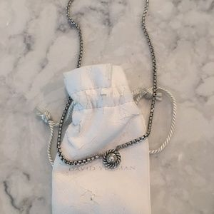 David Yurman Pearl Necklace in Silver and Gold
